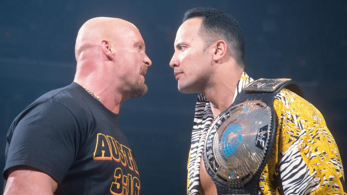The Rock and Stone Cold's rivalry is legendary. Image: WWE