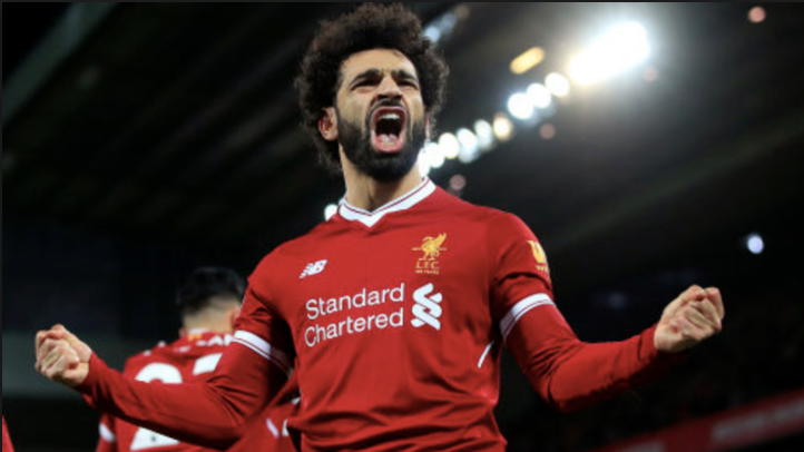 No surprise to see Salah top the charts in 2018. Image: PA Images