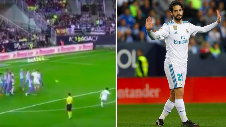 Watch: Isco Scores Gorgeous Free-Kick, Apologises To Malaga Fans