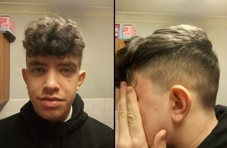 Jonathan Soares got his hair cut after being told it was too long. Credit: SWNS
