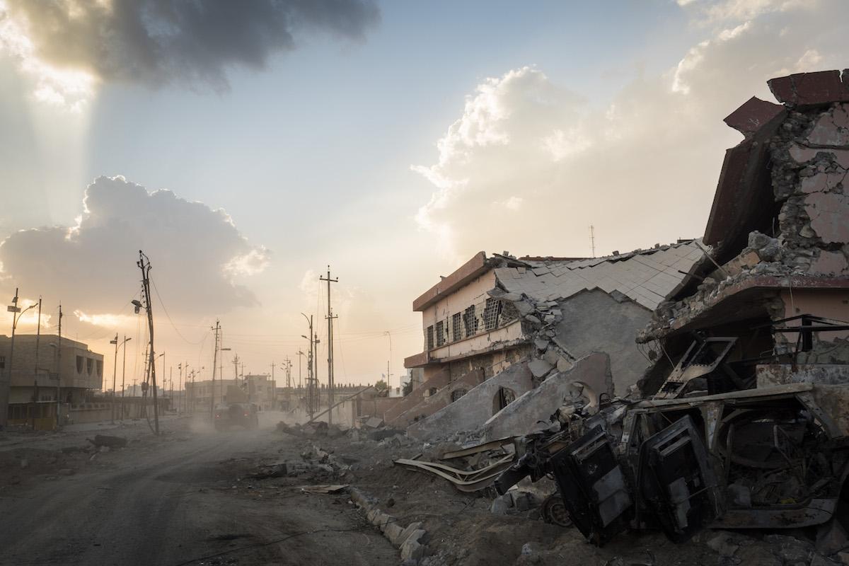 Mosul war zone