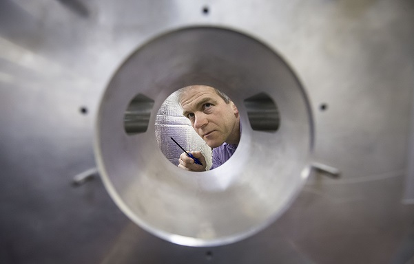 A model of the LIGO detector at Glasgow University. Credit: PA