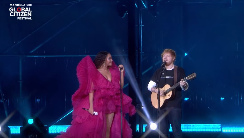 Ed Sheeran And Beyoncé's Outfits Divide Opinion On Gender Standards. Credit: Global Citizen
