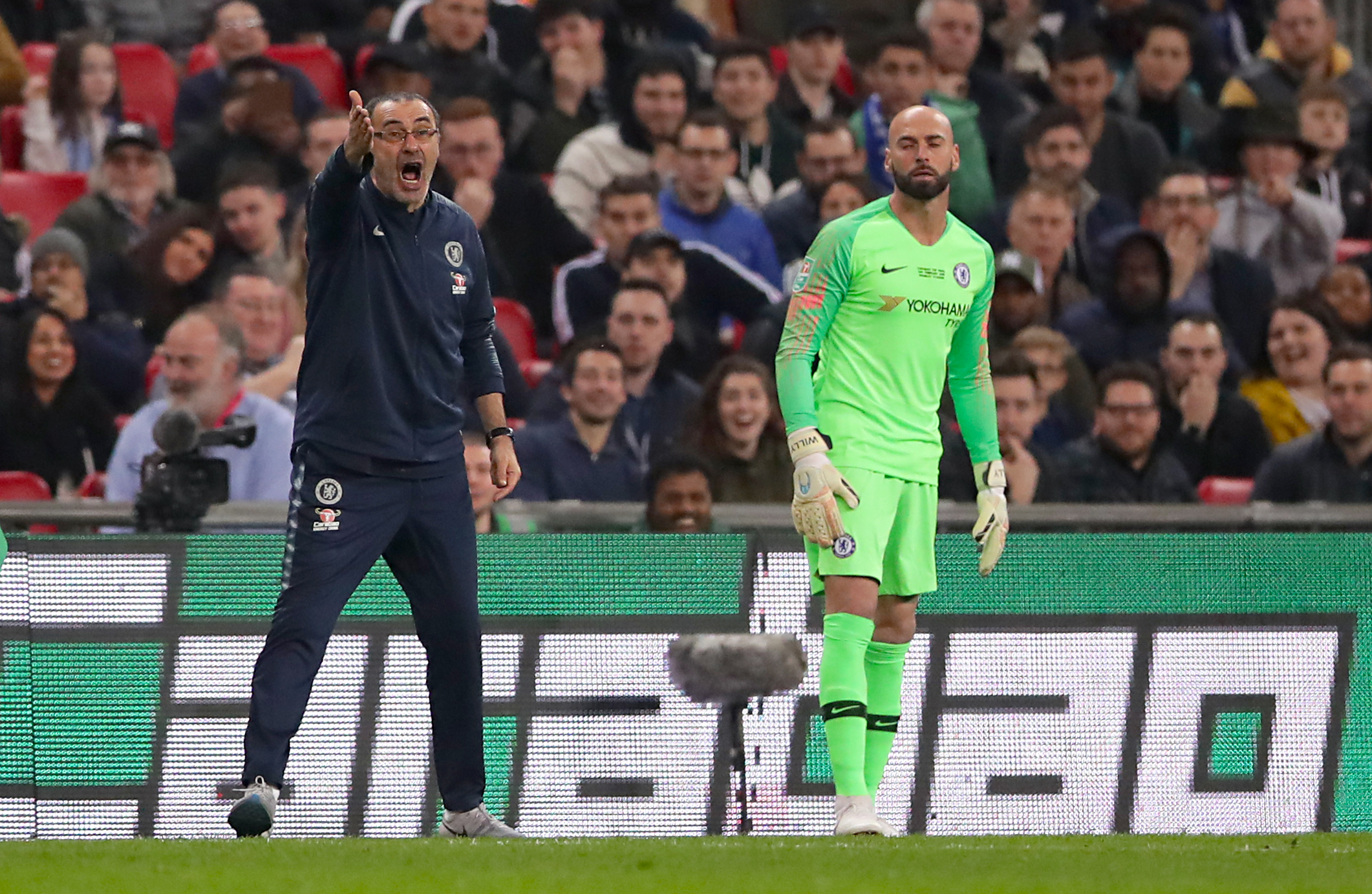 A lot has changed since Kepa refused to go off in that final. Image: PA Images