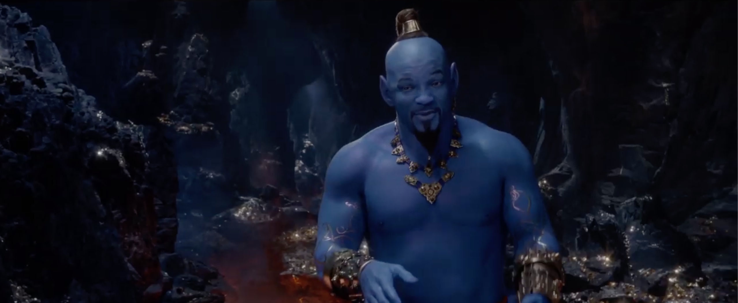This is Will Smith's Genie. Credit: Disney