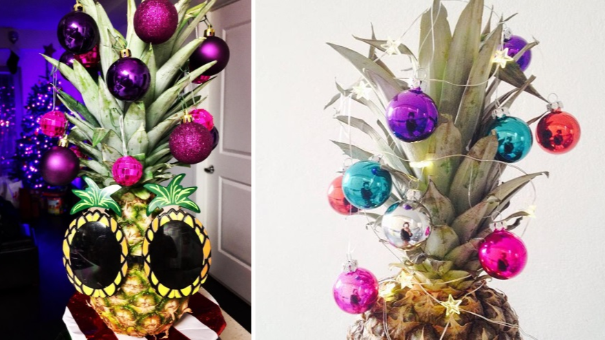 People Are Decorating Pineapples As Christmas Trees And It's A Mood