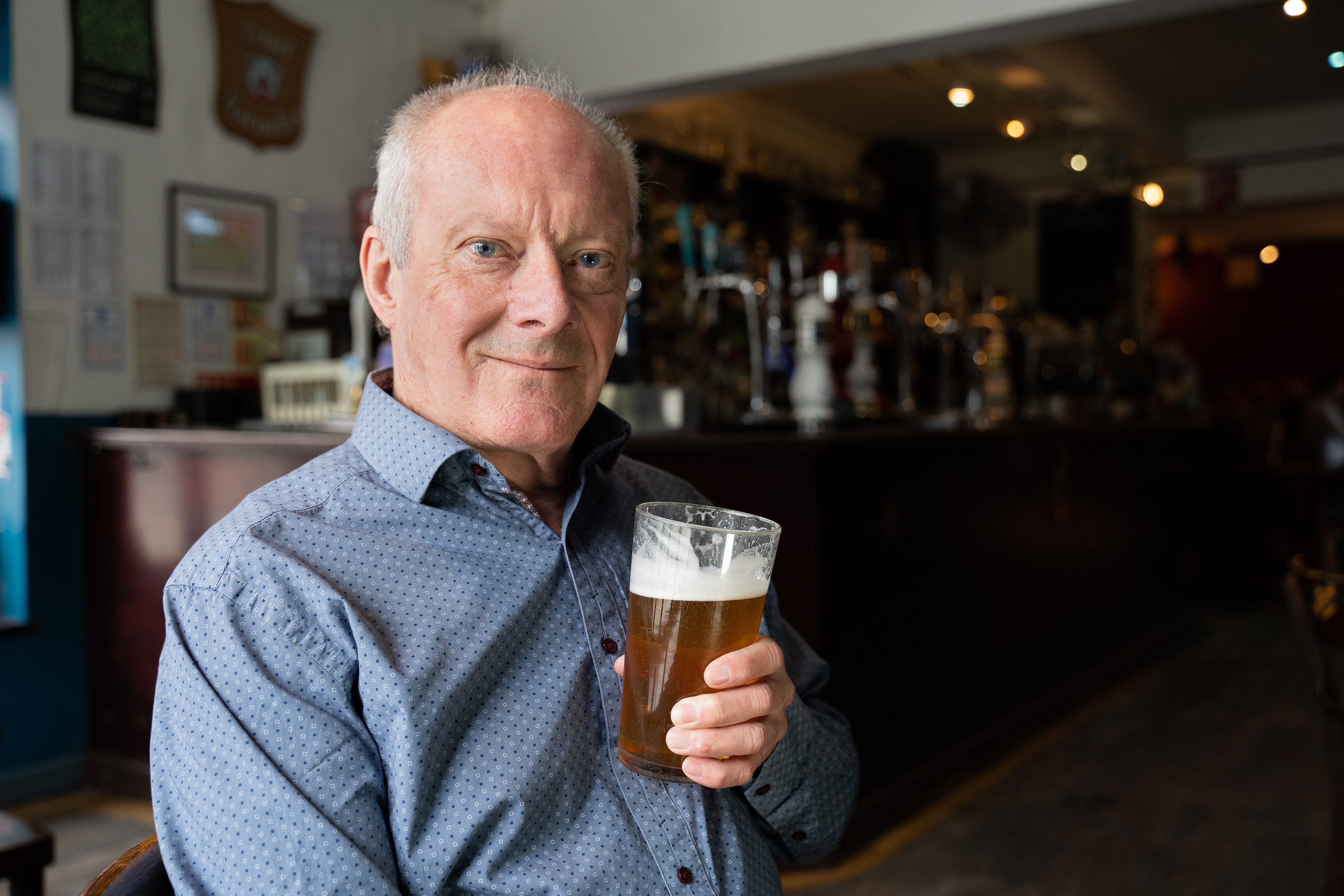 He has visited more than 50,000 pubs over five decades. Credit: Kennedy News and Media