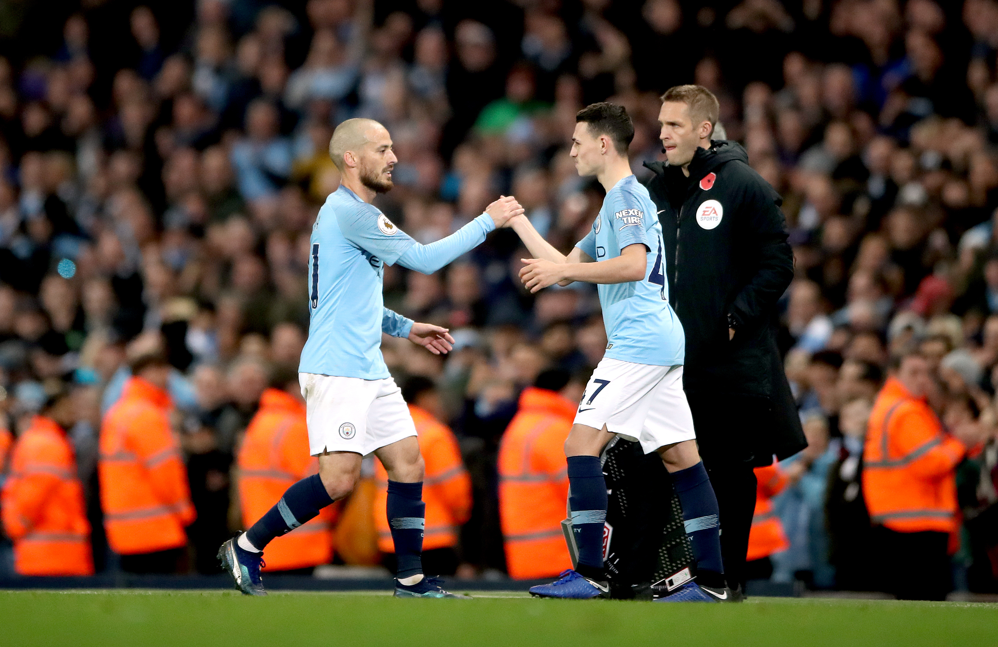 Foden replaced the magnificent David Silva. Image: PA Images
