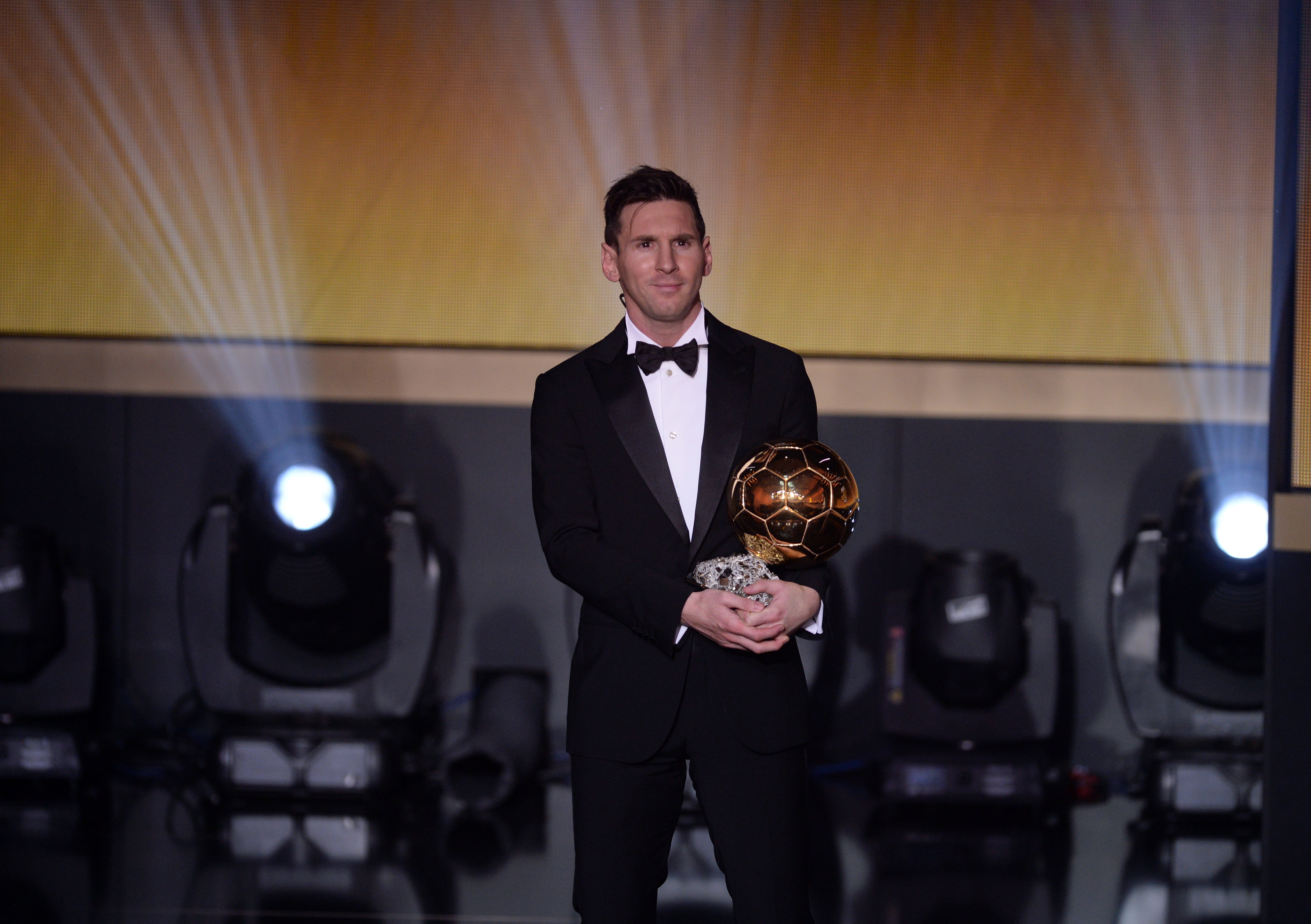 Messi has won the Ballon d'Or a record five times. Image: PA Images
