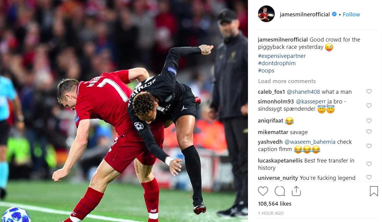 Image Instagram  James Milner