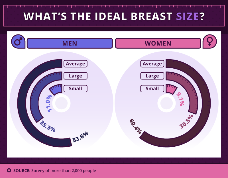 There's Been A Big Survey On Breast Sizes And The Results ... C Cup Breast Vs B Cup