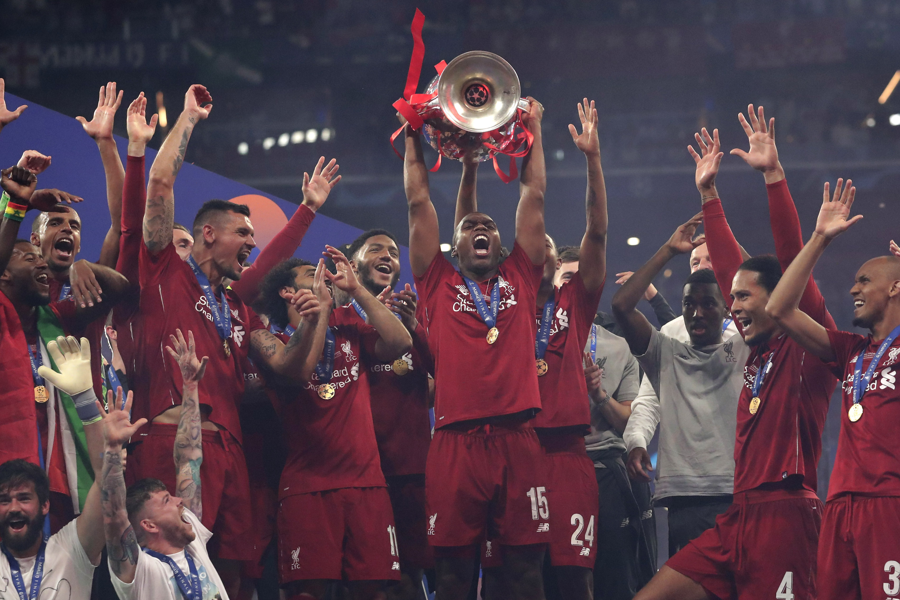 Sturridge with the Champions League trophy. Image: PA Images