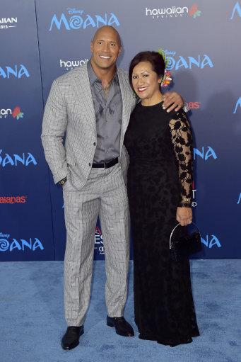 Johnson and mum Ata. Credit: PA