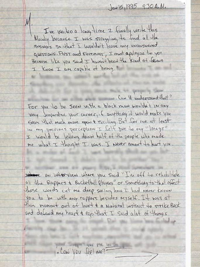 The first part of the letter from Tupac to Madonna Credit: Press Association Images / GottaHaveRockandRoll.com