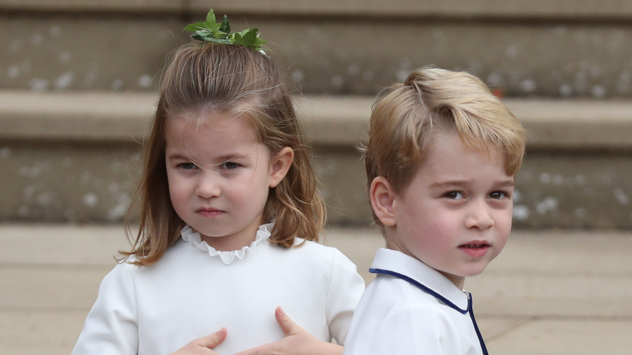 ​Prince George And Princess Charlotte Stole The Show At Princess Eugenie's Wedding