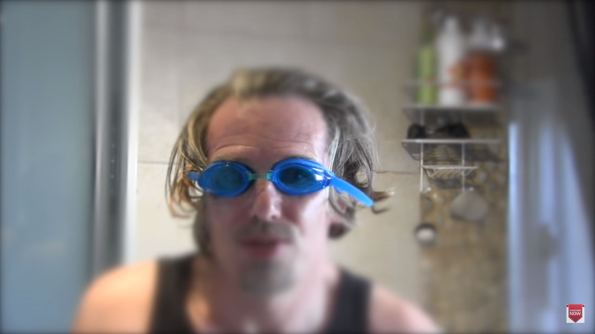 Goggles full of urine, why not? Credit: YouTube
