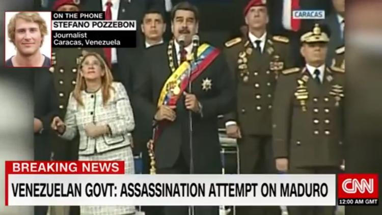 Moment Venezuelan President Survives Terrifying Drone Assassination Attack