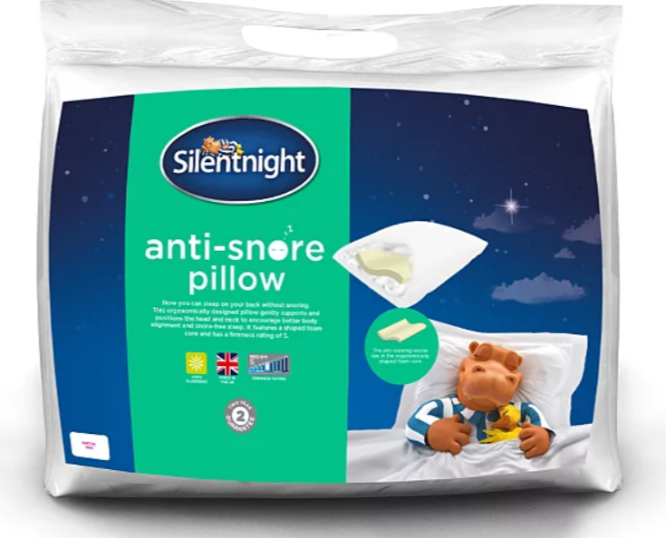 The anti-snore pillow is getting rave reviews. Credit: Asda/Silentnight