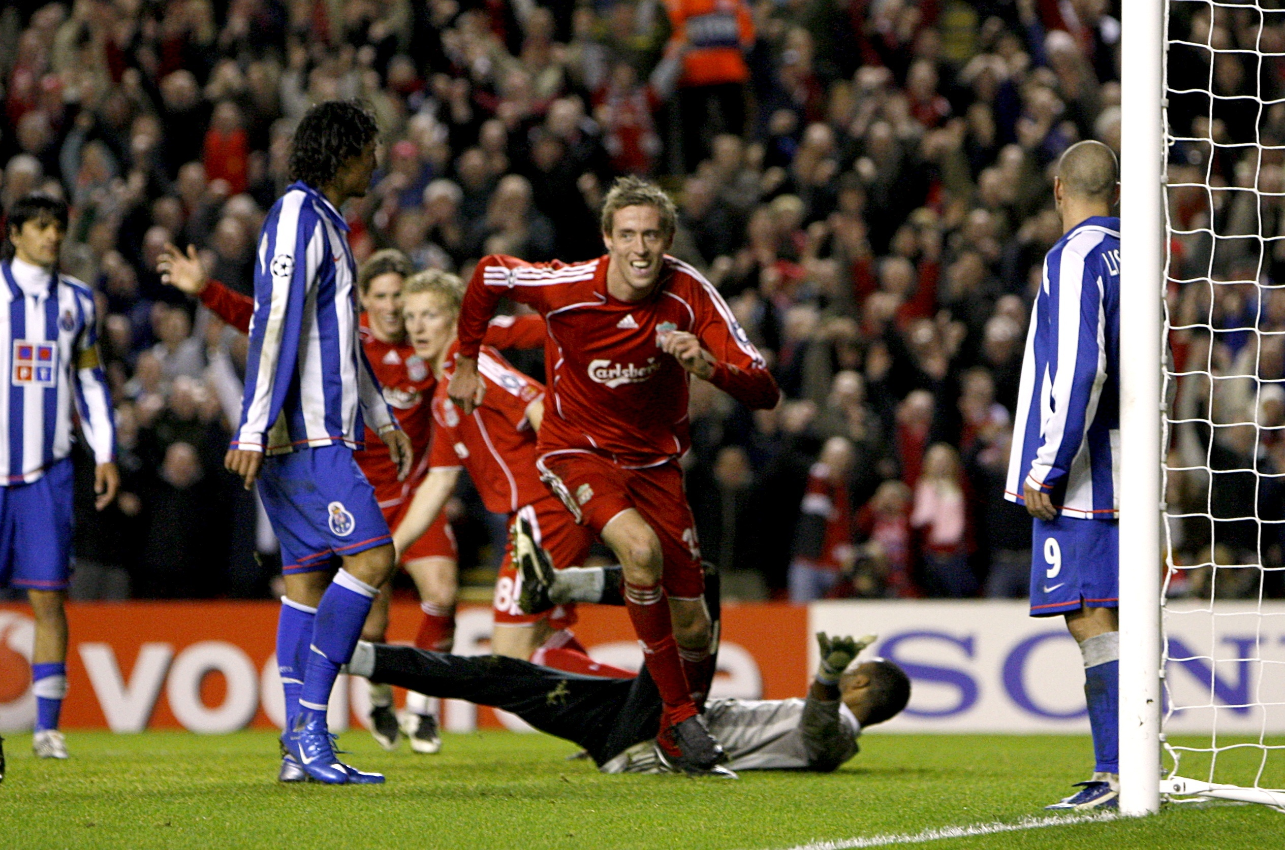 Crouch has experience in Europe playing for Liverpool in the Champions League. Image: PA Images