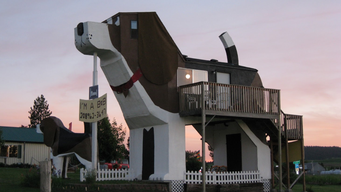 ​There's A House In The Shape Of A Giant Dog On Airbnb