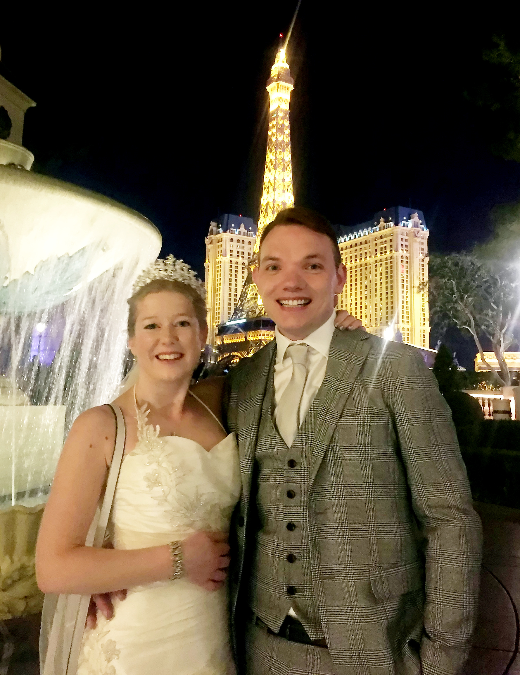 The couple got married in Las Vegas just before Christmas. Credit: SWNS