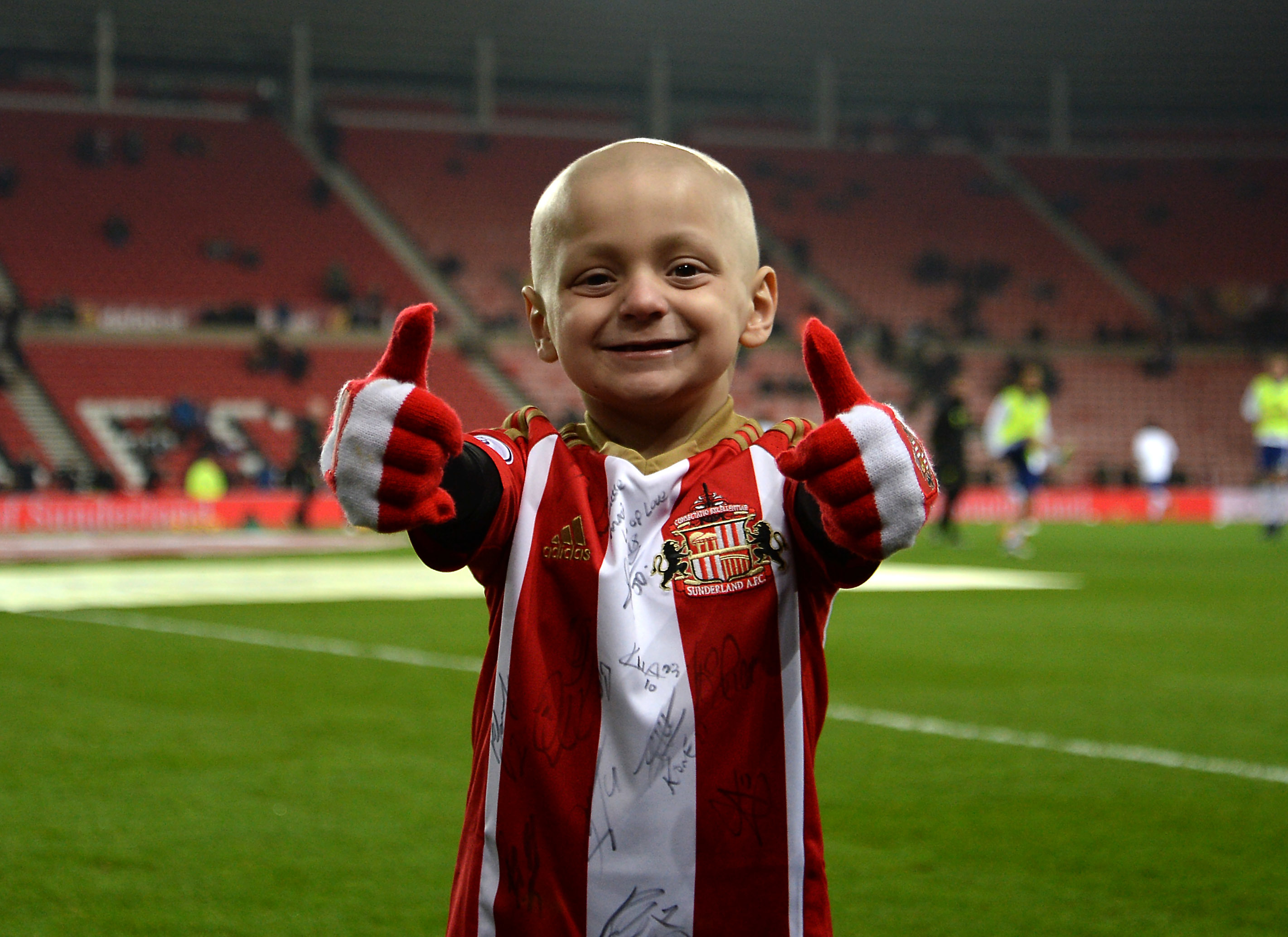 Bradley touched the lives of thousands of people during his life. Credit: PA Images
