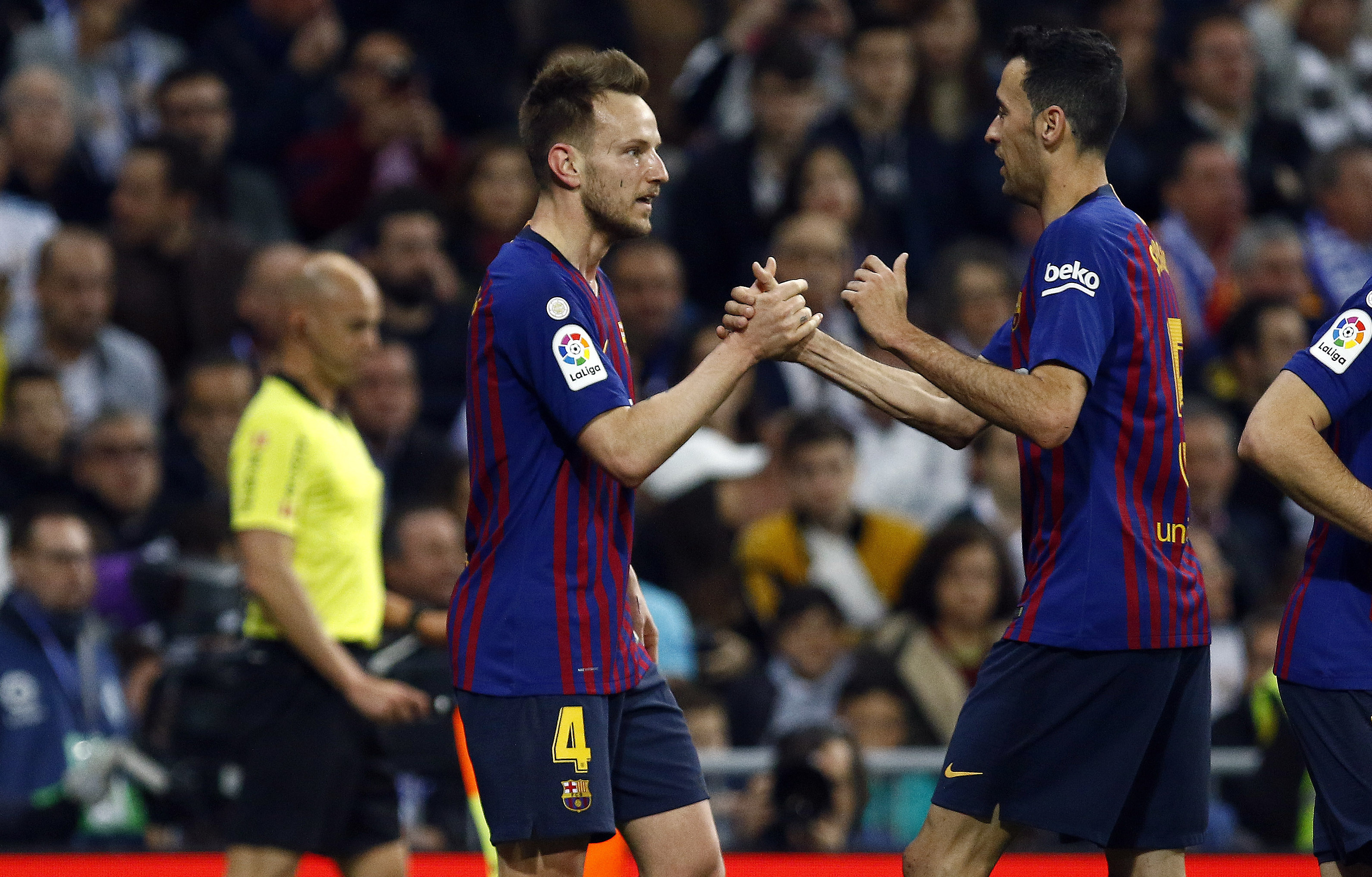 Barcelona do have a very good midfield in fairness. Image: PA Images