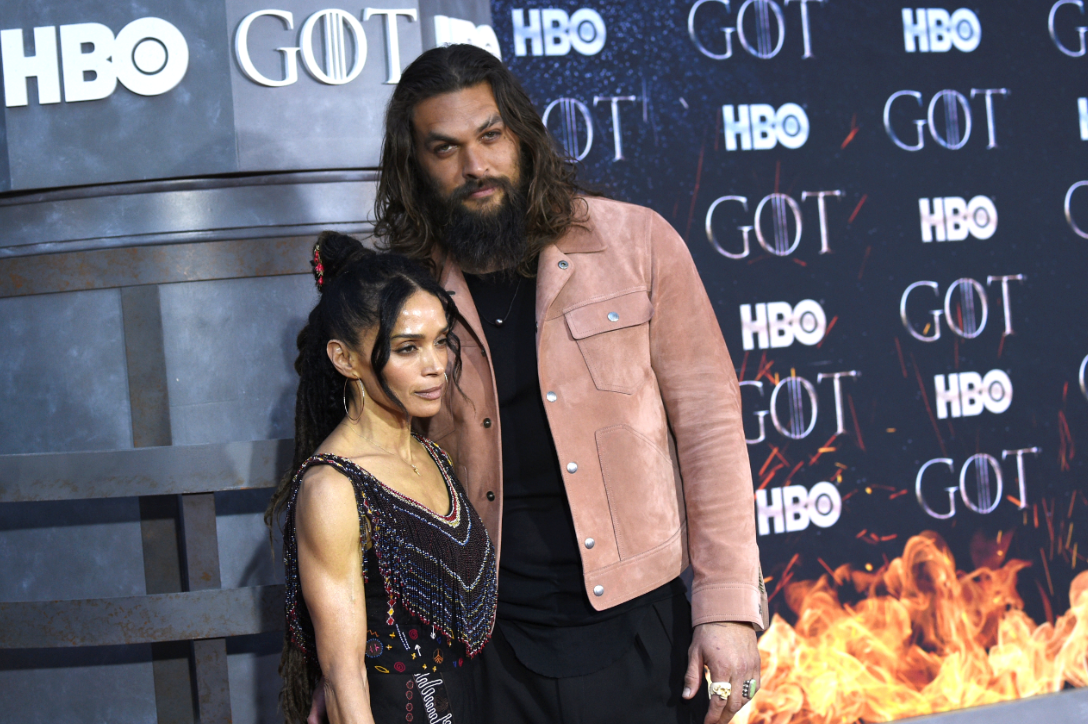 Jason Momoa with wife Lisa Bonet at the premiere for the eighth season of Game of Thrones. Credit: PA