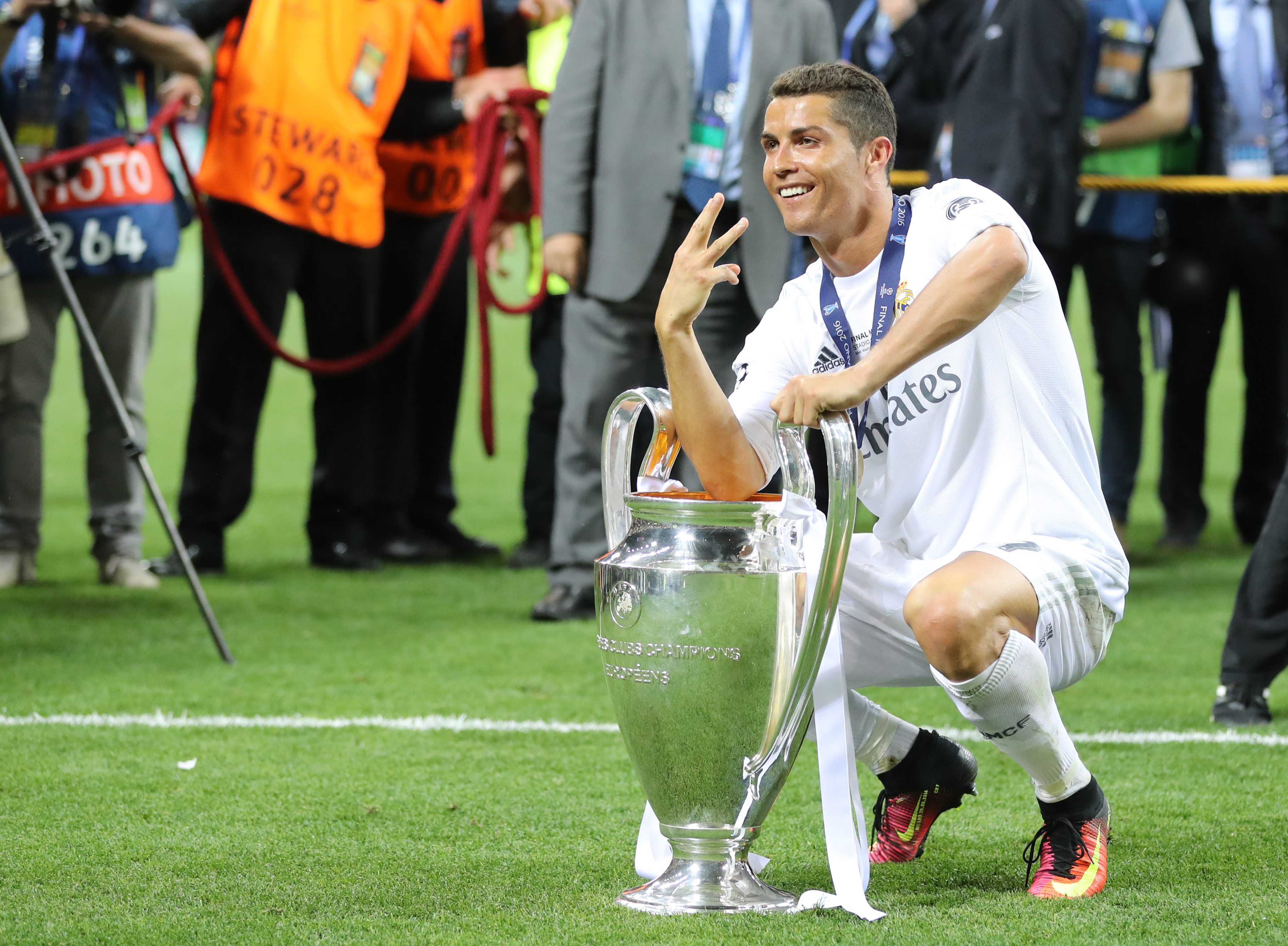Ronaldo is set to win his sixth European title with his third team. Image: PA Images