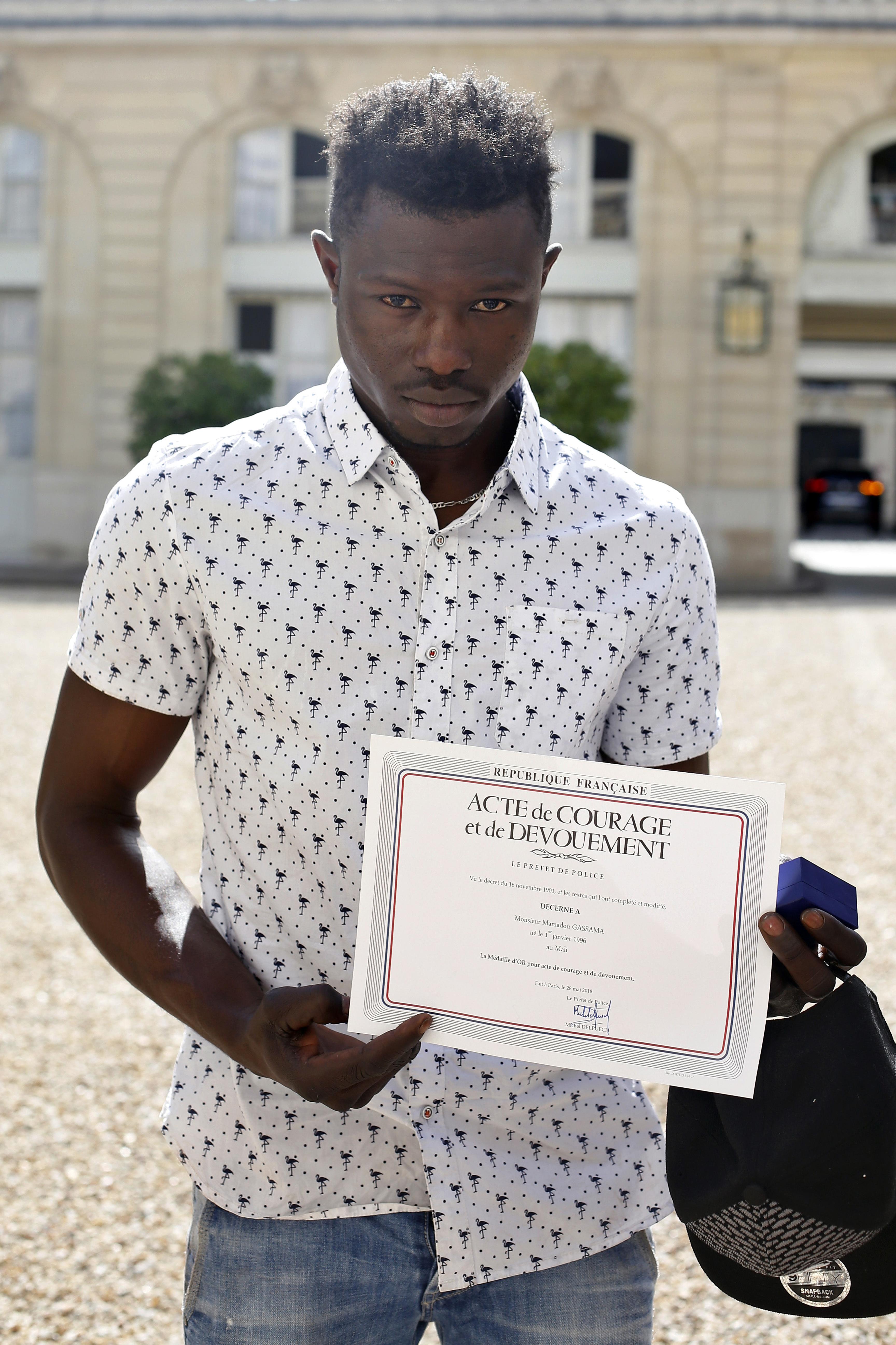 Mamoudou Gassama. Credit: PA
