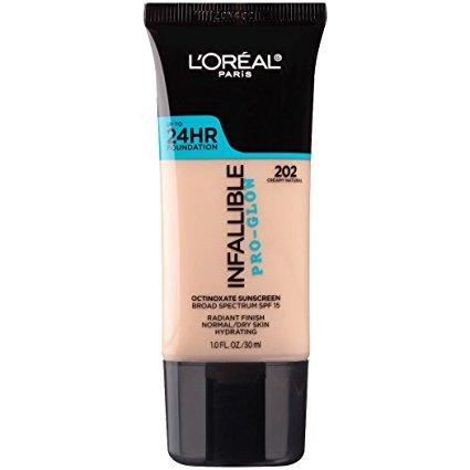 The group also voted L'Oréal Paris Infallible Pro Glow Longwear Foundation. (Credit: Amazon)