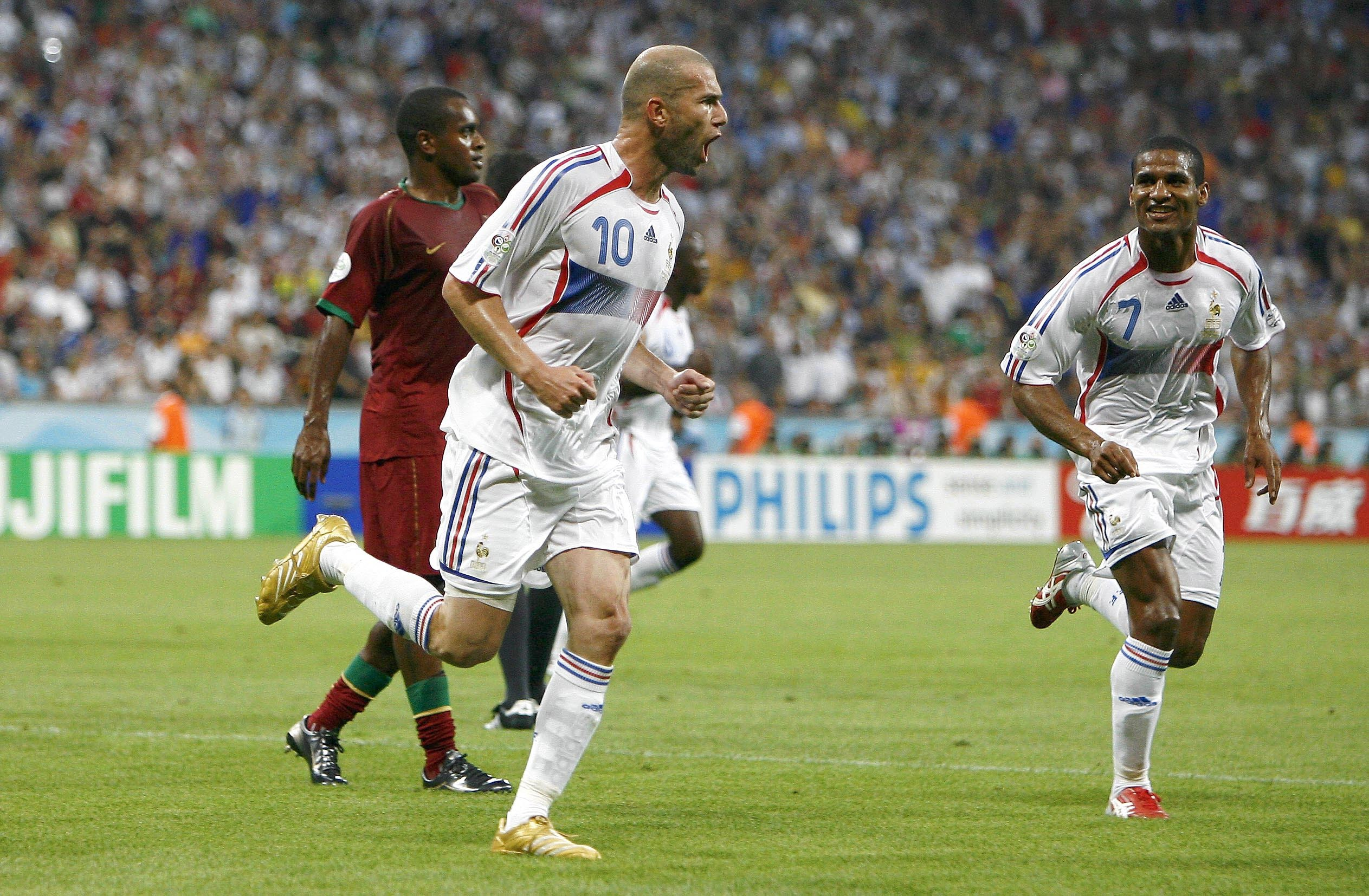 Zidane scored a penalty against Portugal in the semi-final. Image: PA Images