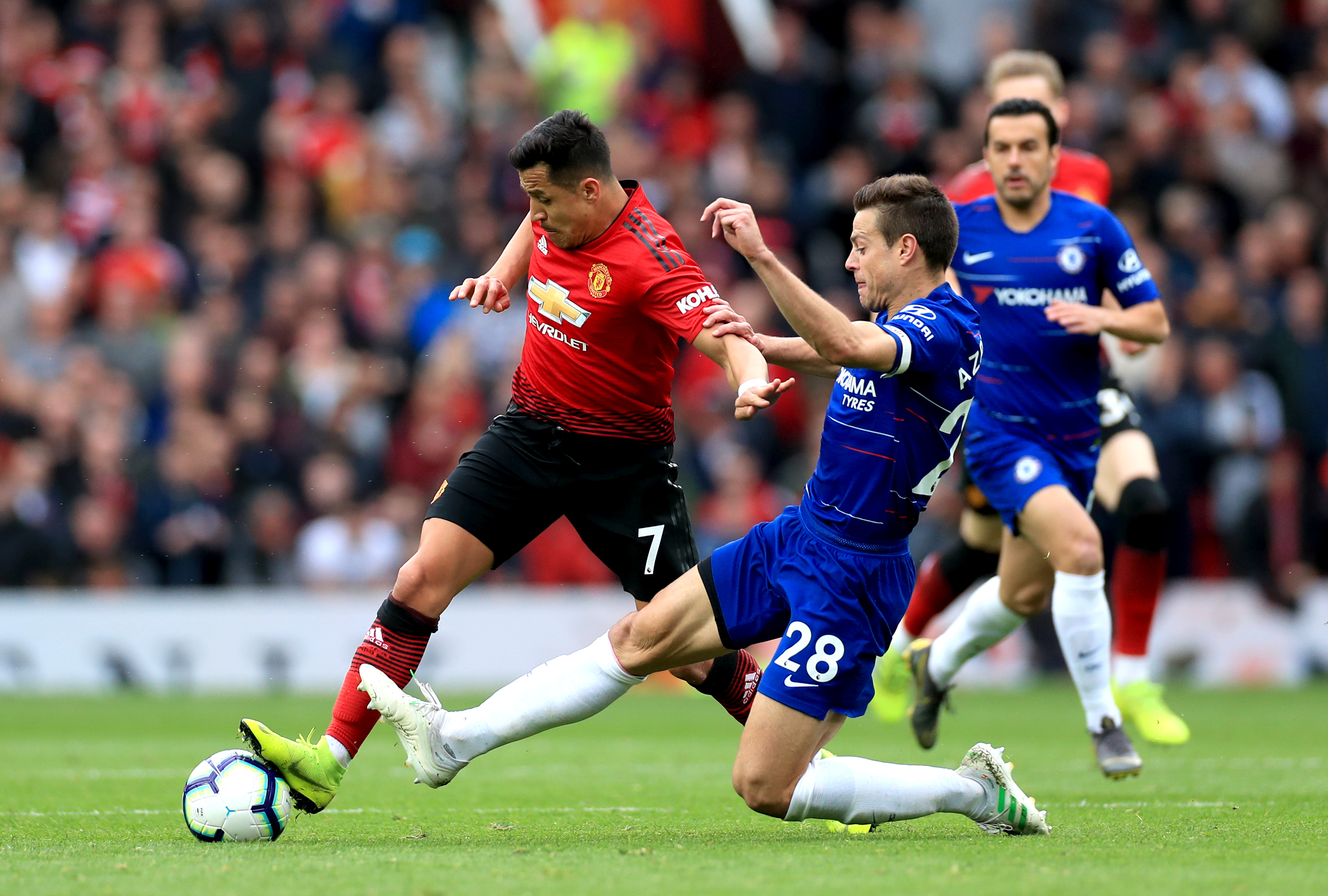 Proof that Alexis Sanchez touched the ball at least once against Chelsea. Image: PA Images