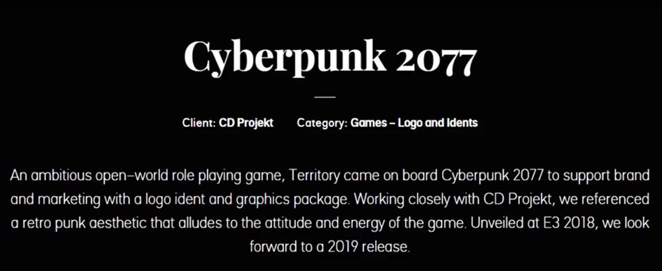 Cyberpunk 2077 - Territory Studio post