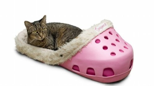 Slipper Shaped Pet Beds Exist And They Look Amazing
