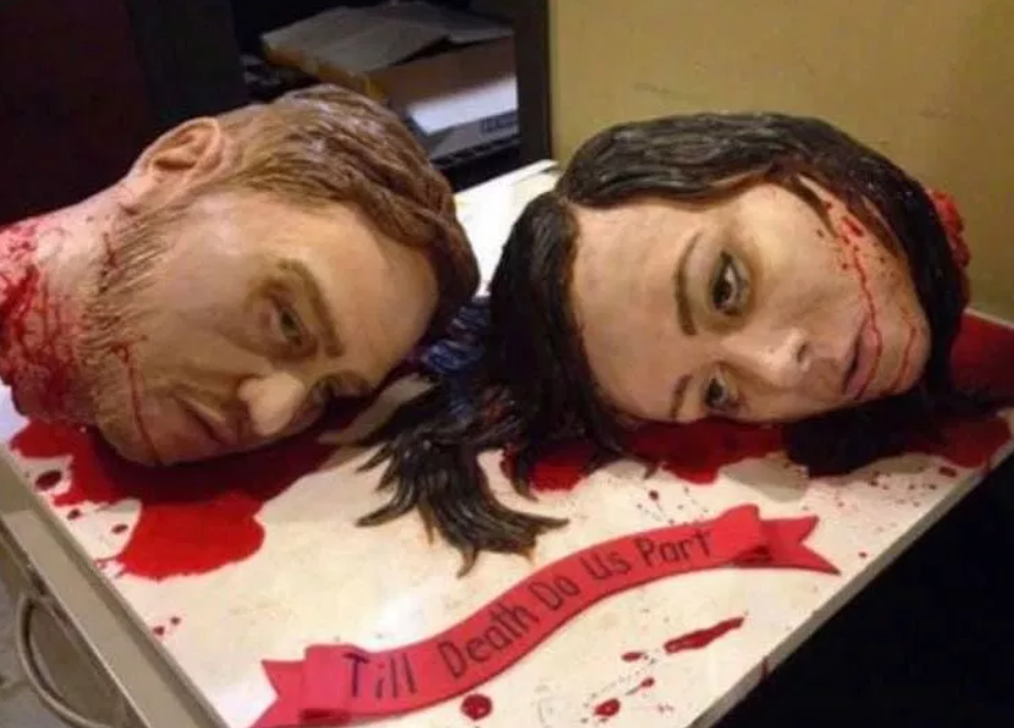 The gruesome cake. Credit: Facebook
