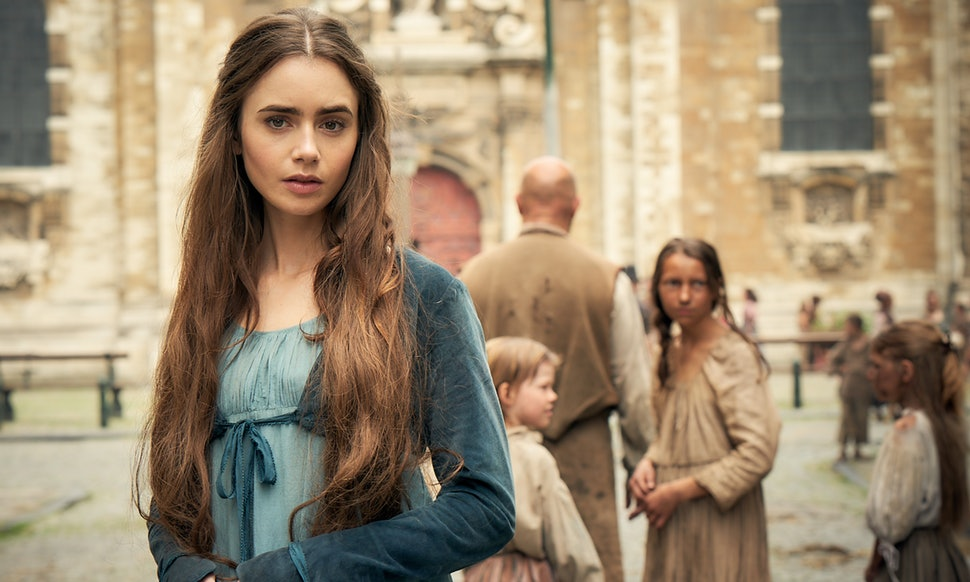 Lily Colman stars in new Les Mis series. Credit: BBC One