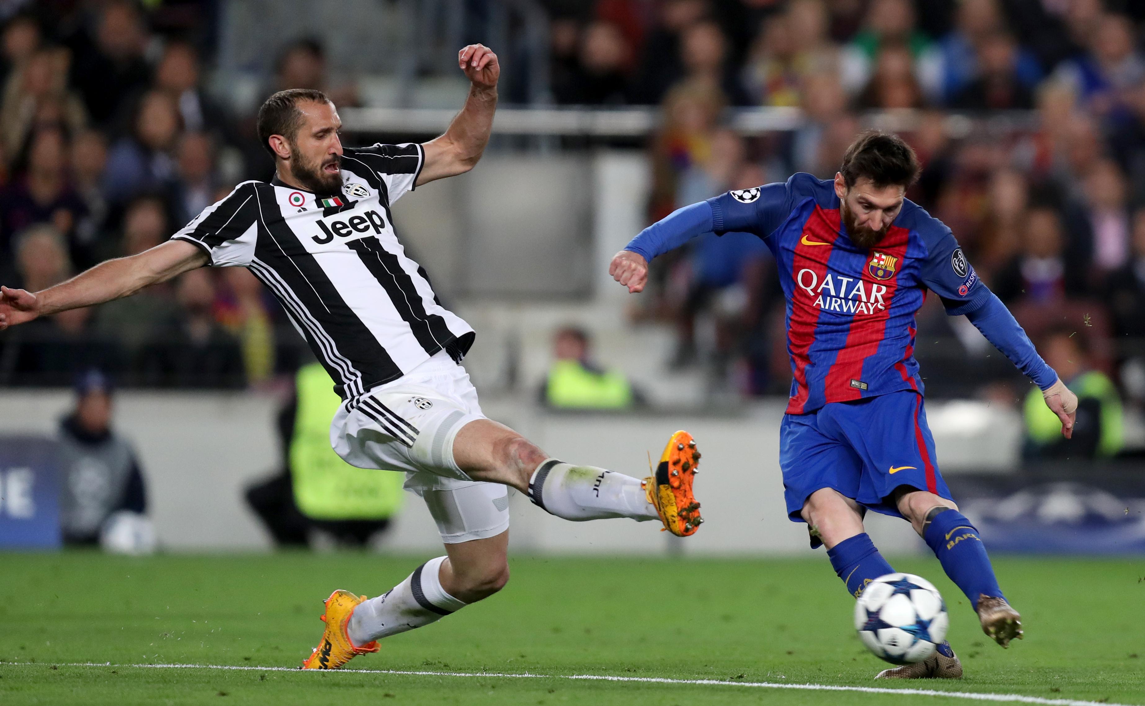 WATCH Bonucci And Chiellini Have A Friendly Fight Over Messi s