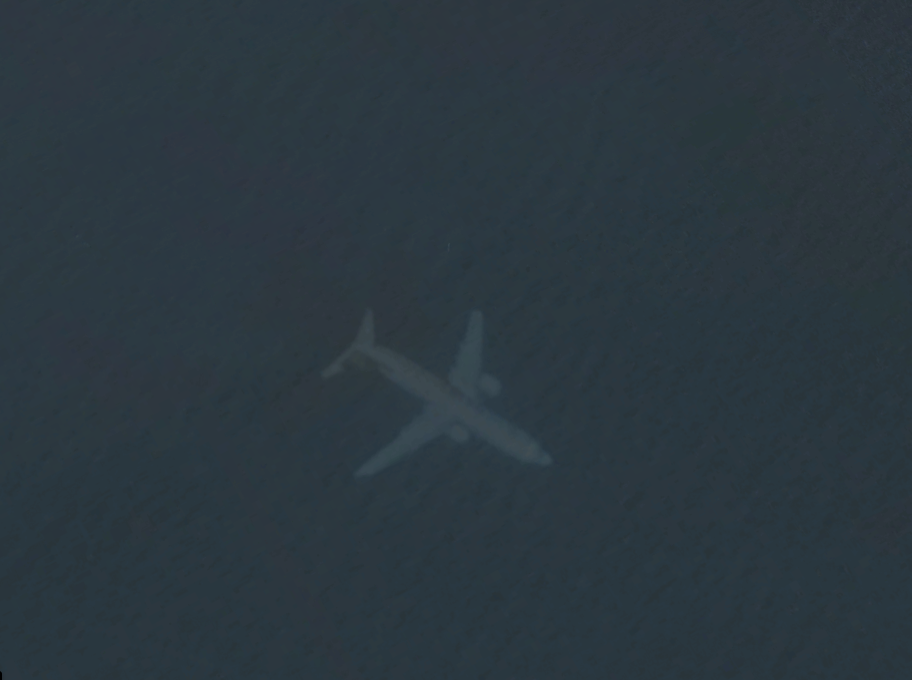 The Plane Under The Sea Off The Coast Near Edinburgh. Credit: Google Maps.