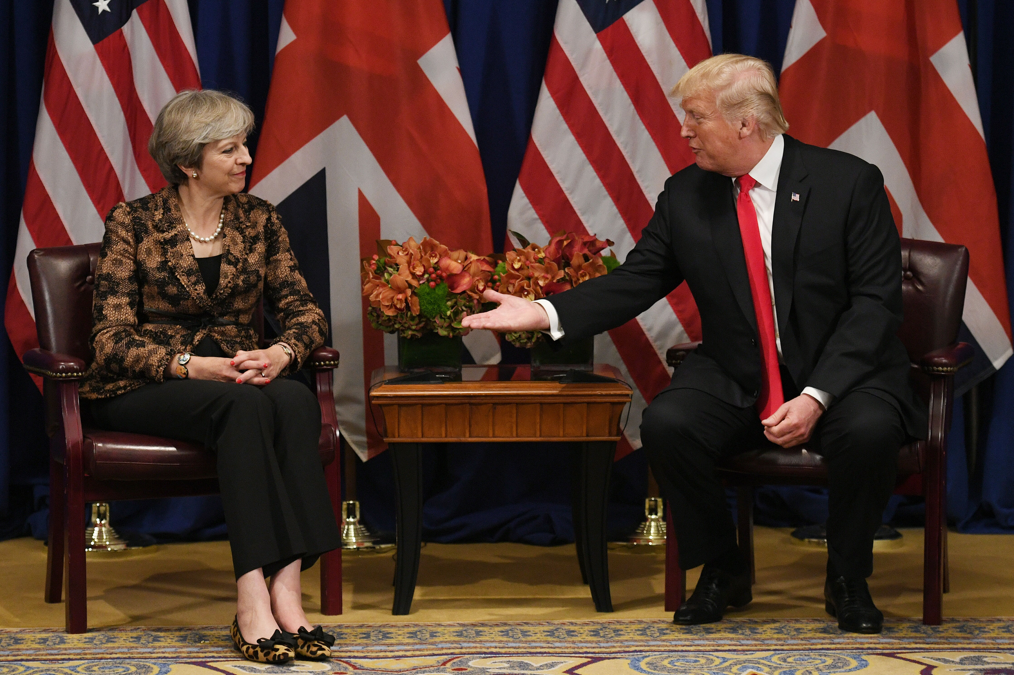 The pair met when the British PM visited the US last year. Credit: PA