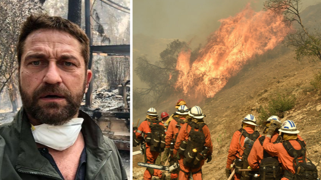 Gerard Butler's House Completely Destroyed By Californian Wild Fires