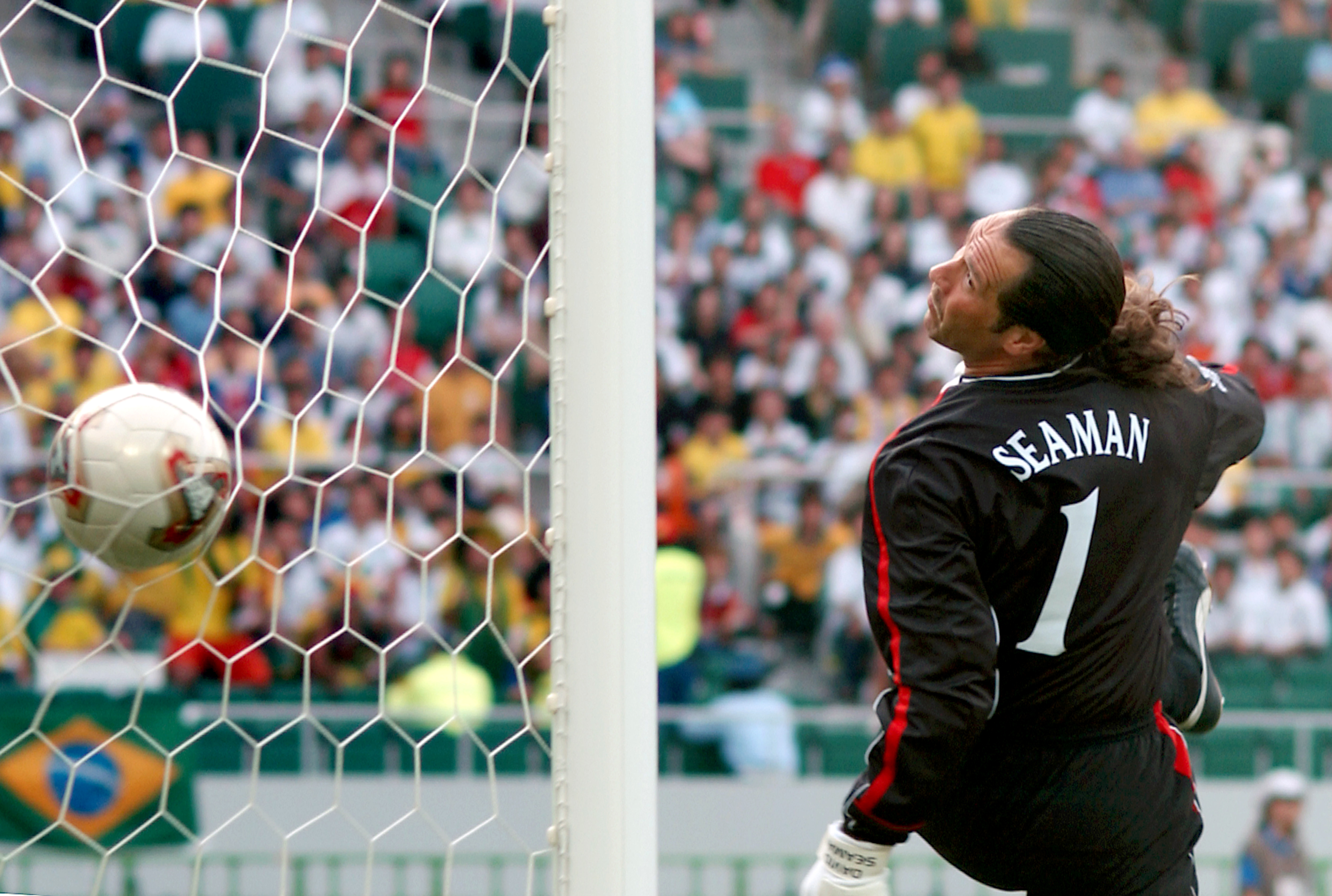 Seaman flops back and just watches on. Image: PA Images