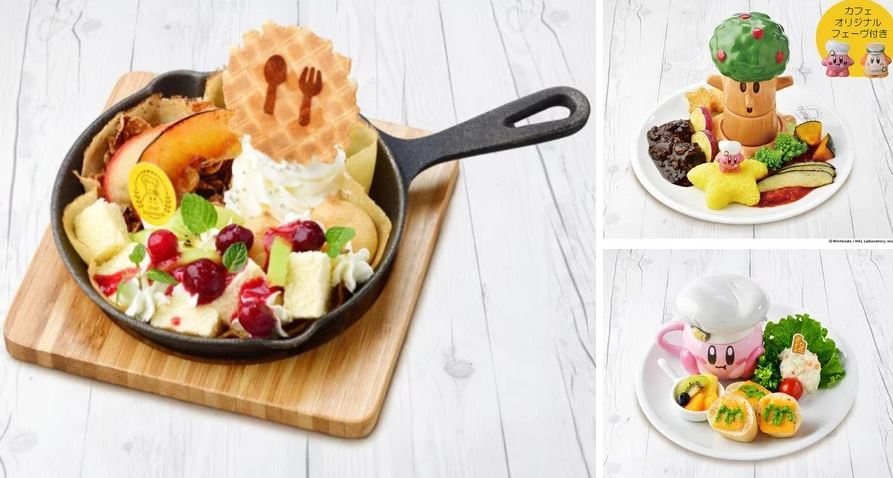 Kirby-inspired food in Japan. Credit: The Kirby Café