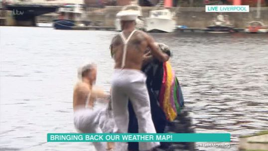 Hilarious Moment Alison Hammond Pushes Man Into The Docks On This Morning