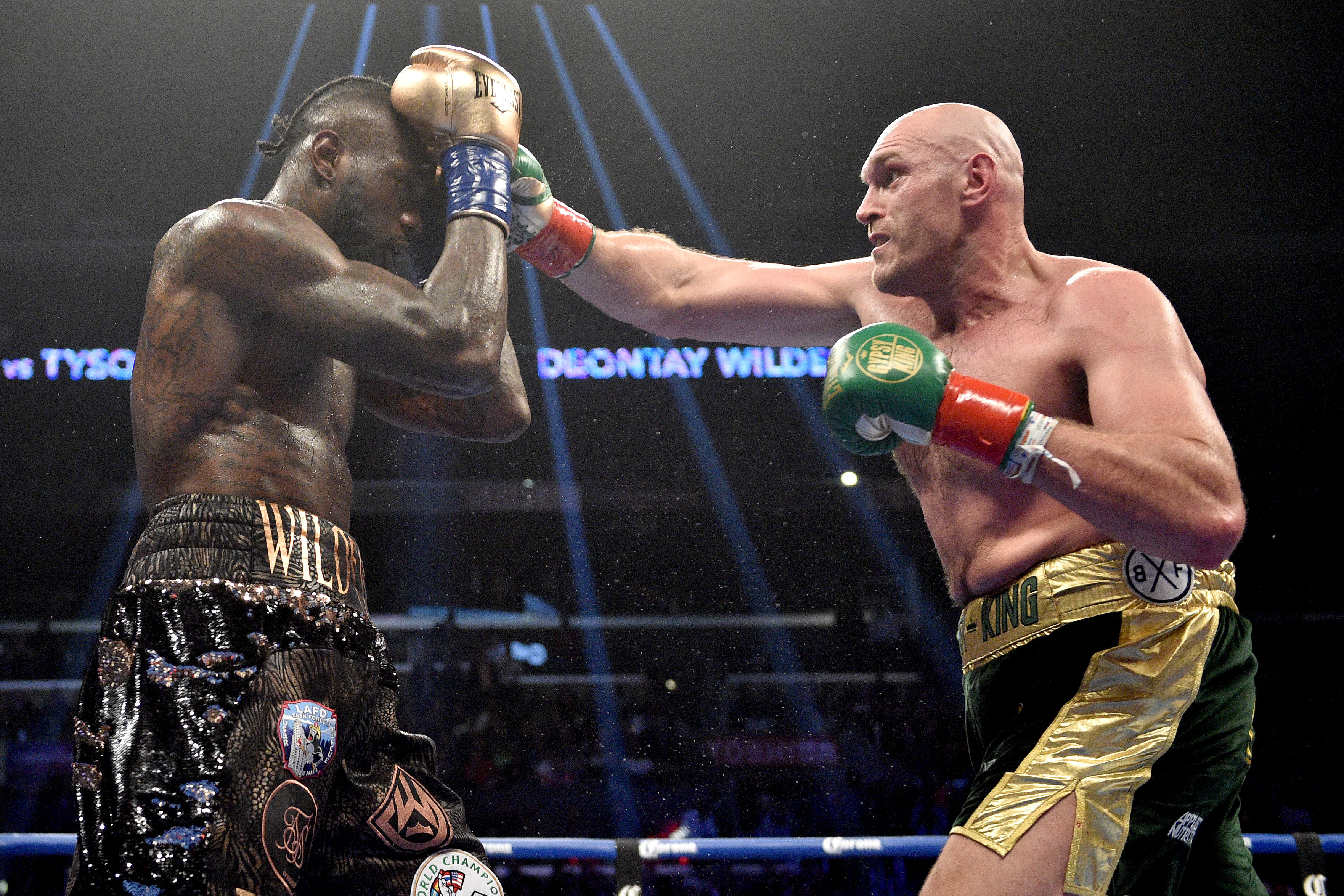 Deontay Wilder and Tyson Fury held apart at weigh