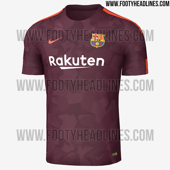 Penampakan jersey Barcelona pada musim depan (the Lad Bible Group)
