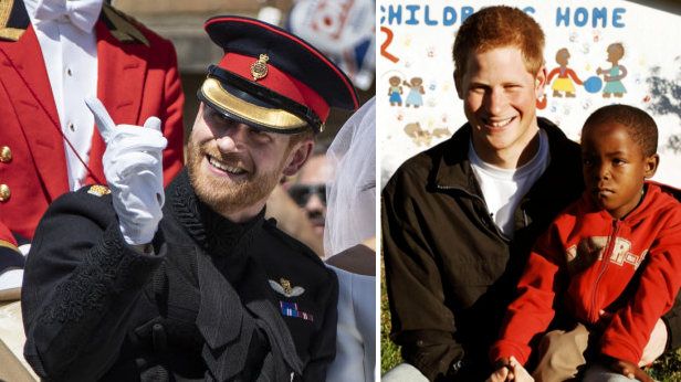 Watch The Heartwarming Moment Prince Harry Spots African Orphan In Wedding Crowd