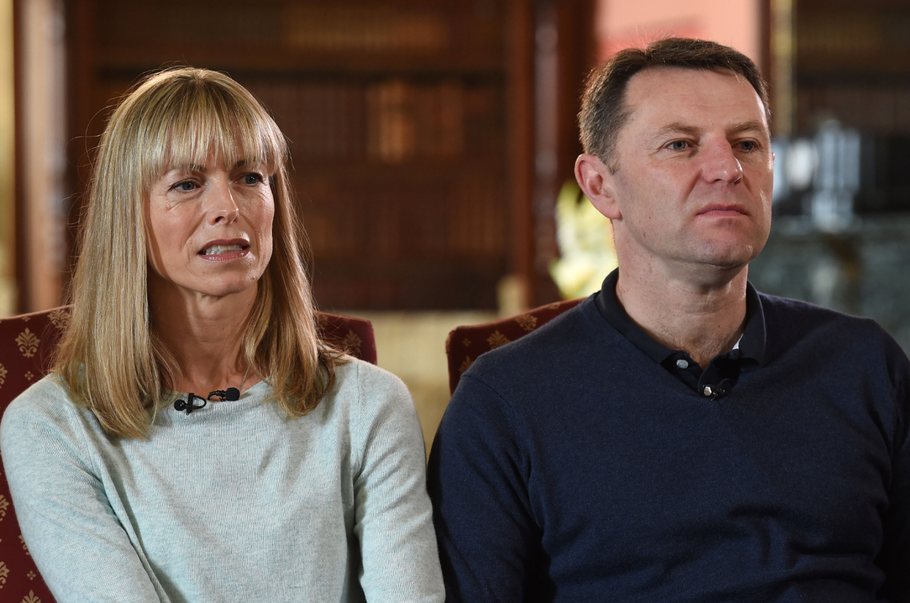 Kate and Gerry McCann. Credit: PA