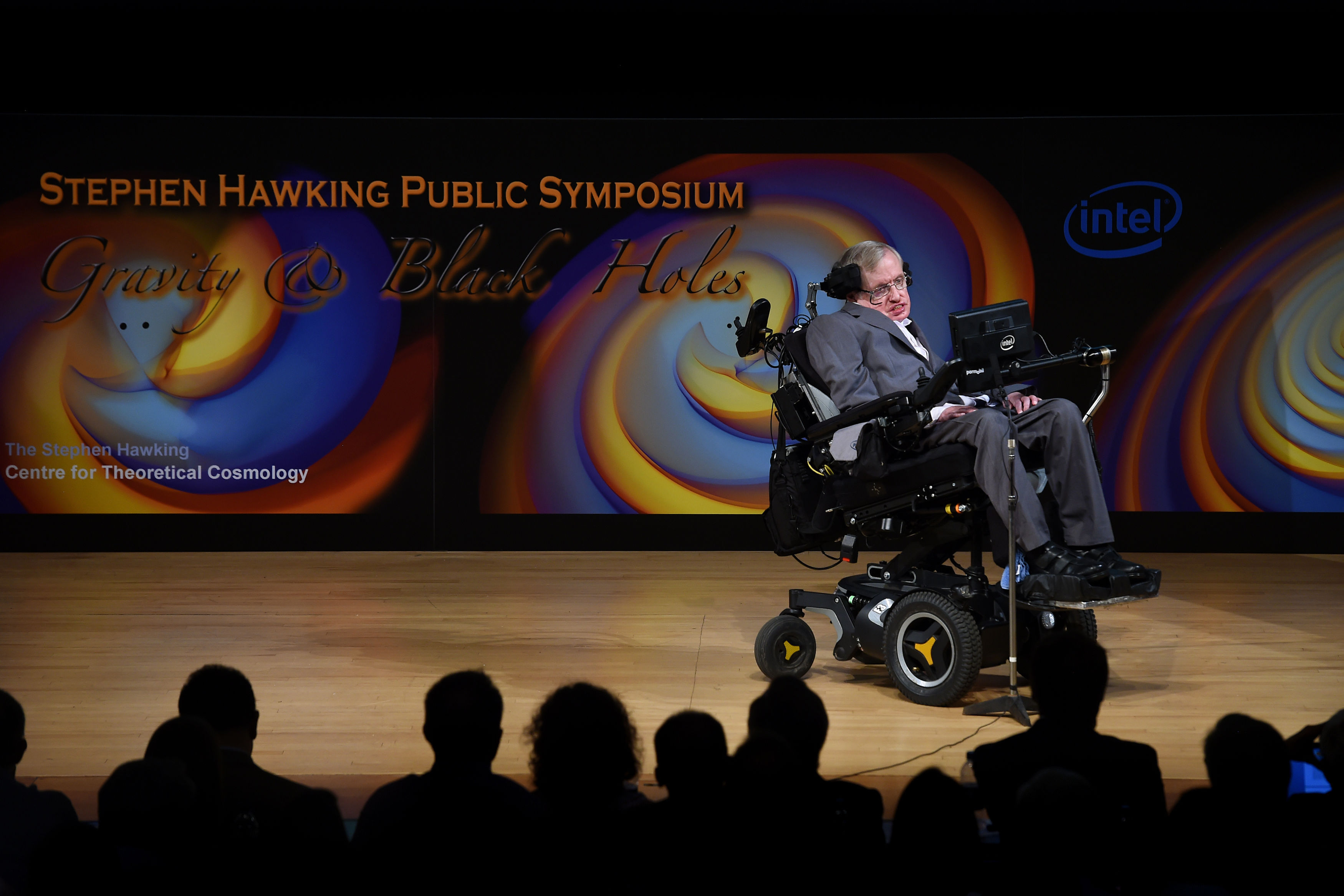Professor Stephen Hawking giving a talk in 2016. Credit: PA