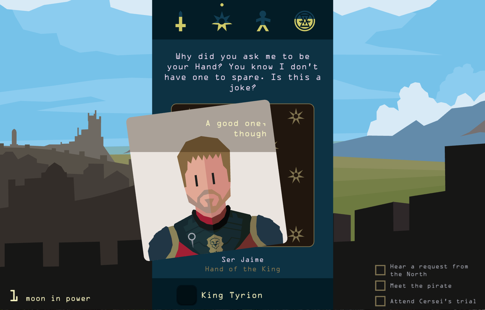 Reigns: Game of Thrones / Credit: Nerial, Devolver Digital